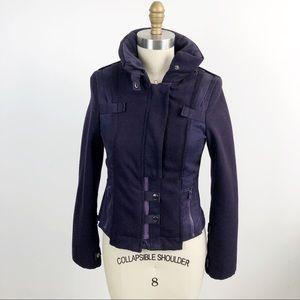 'S MAX MARA Boiled Wool Twill Moto Utility Jacket